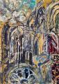 Katedrális III., 1966 kl, olaj, karton, 100x70 cm
