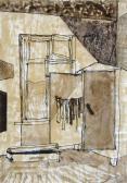 Szobám sarka, 1964, diófapác, polisztirol emulzió, 30x21 cm