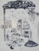 Putri, 1967, tus, toll, papír, 32x24 cm