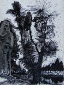 Kert, 1963, tus, papír, 32x24 cm
