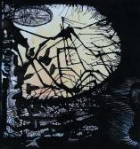D. A. illusztráció, 1968 kl, tus, vegyes technika, papír, 32x24 cm / 130x135 mm