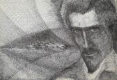 Illusztráció Petőfi Sándor: Csatában c. verséhez, 1970-es évek, tus, toll, papír, 21x30 cm