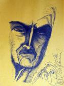 Emlék (Nagyapám), 1960, filctoll, papír, ?? cm
