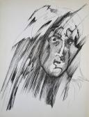Átfésült vonalak, 1980-as évek, toll, tinta, papír, 43x33 cm
