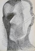 Árnyjáték, 1970 kl, tus, papír, 30x21 cm