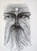 A Mester jelenése, 1980-as évek, ceruza, papír, 42x30 cm