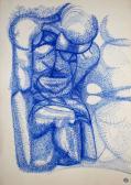Áttűnések, 1965, filctoll, papír, 61x43,3 cm