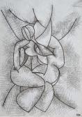 Útitársak IV. (Jegyzetek), 1968, tus, karton, 21x14,8 cm