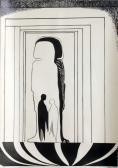 "Csönd testek ""B"" sorozat, 1968, tus, toll, papír, 85x61 cm"