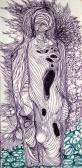 Totem (Várat építek neked), 1969, golyóstoll, papír, 12,3x6 cm