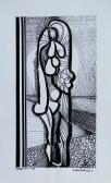 Família III. (Találkozás), 1970, tus, fotópapír, 24x18 cm