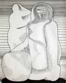 Emlékmű, 1970 kl, tus, papír, 40x30 cm