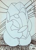 Totem, 1970 kl, tus, papír (könyvtári leírókarton), 21x15 cm