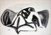 Kívül / Belül, 1974 kl, tus, papír, 21x30 cm