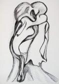 Vonzódások és vonzások III., 1984, tus, toll, papír, 42x30 cm