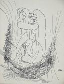Útitársak III. (Jegyzetek), 1968, tus, papír, 22x16,5 cm
