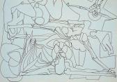 Spirituális utazás, 1976, tus, toll, papír, 21x30 cm