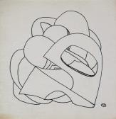 Záródísz sorozat, 1970-es évek, tus, papír, 8,5x8,3 cm