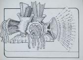 Záródísz sorozat (Regényfeldolgozás), 1970-es évek, tus, papír, 8x10,7 cm