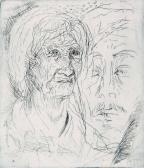 Illusztráció, 1965, rézkarc, papír, 42x29 cm / 110x95 mm