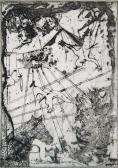 Aki másnak gödröt ás, az is néha gödröt ás, 1965, rézkarc, papír, 42x29,5 cm / 275x190 mm