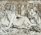 Látomás, 1966, rézkarc, papír, 29x42 cm / 163x185 mm