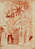 Álom, 1966, rézkarc, papír, 42x30 cm / 193x140 mm