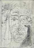 Március, 1967, rézkarc, papír, 41,5x29,5 cm / 195x140 mm