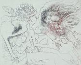 Hol is…?, 1971 kl, rézkarc, papír, 32x22 cm/ 95x12 mm