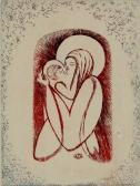 Madonna III., 1972, rézkarc, papír, 30x21 cm / 118x88 mm
