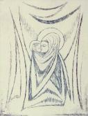 Madonna VII., 1972, rézkarc, papír, 30x21 cm / 118x88 mm