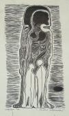 Akik elmentek, 1966, linómetszet, papír, 30x21 cm