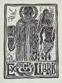 Ex libris sorozat, 1970-es évek, linómetszet, papír, 29,5x21 cm / 120x85 mm