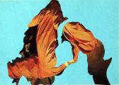 Orgonasíp VII., 1990-es évek, kollázs, papír, 21x29,5 cm