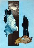 Orgonasíp X., 1990-es évek, kollázs, papír, 29,5x21 cm