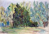Bokor, 1964, olajpasztell, papír, 43x61 cm