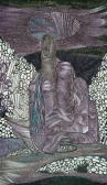 A kristályvár keze, 1969, golyóstoll tus, papír, 12,5x7 cm
