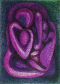 Tanulmányrajz III., 1970, színes tinta és tus, papír, 30x21 cm