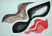 Hullámnyomok, 1998, tempera, tus, 29,5x42 cm