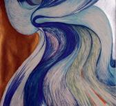 Örvény, 1970-es évek, színes filctoll, papír, 24x23 cm