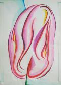 Bimbó, 2005, színes tinta, akvarell, papír, 43x20,5 cm