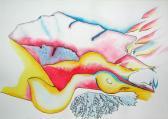 Ars amatoria II., 2008, színes tinta, akvarell, papír, 29,8x42 cm