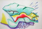 Ars amatoria III., 2008, színes tinta, akvarell, papír, 29,8x42 cm