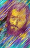 Székelyhídi Sándor, 1980-as évek, akril, vászon, 80,5x51 cm
