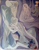 Ballada, 1964 kl, olaj, farost, kb. 120x100 cm