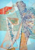 Hajózó idő I., 1968, olaj, papír, 61x43 cm