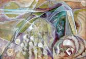 A nagy fehér varázsló, 1969-70 kl, olaj, karton, 100x70 cm