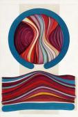 P. & V. sorozat II., 1973-74 kl, akril, vászon, 120x81 cm