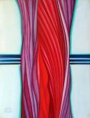Bio matéria (Kék, vörös…), 1978, akril, vászon, 170x130 cm