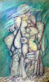Szárazmenyasszony (Jelenés III.), 1969/1999, akril, farost, 160x100 cm